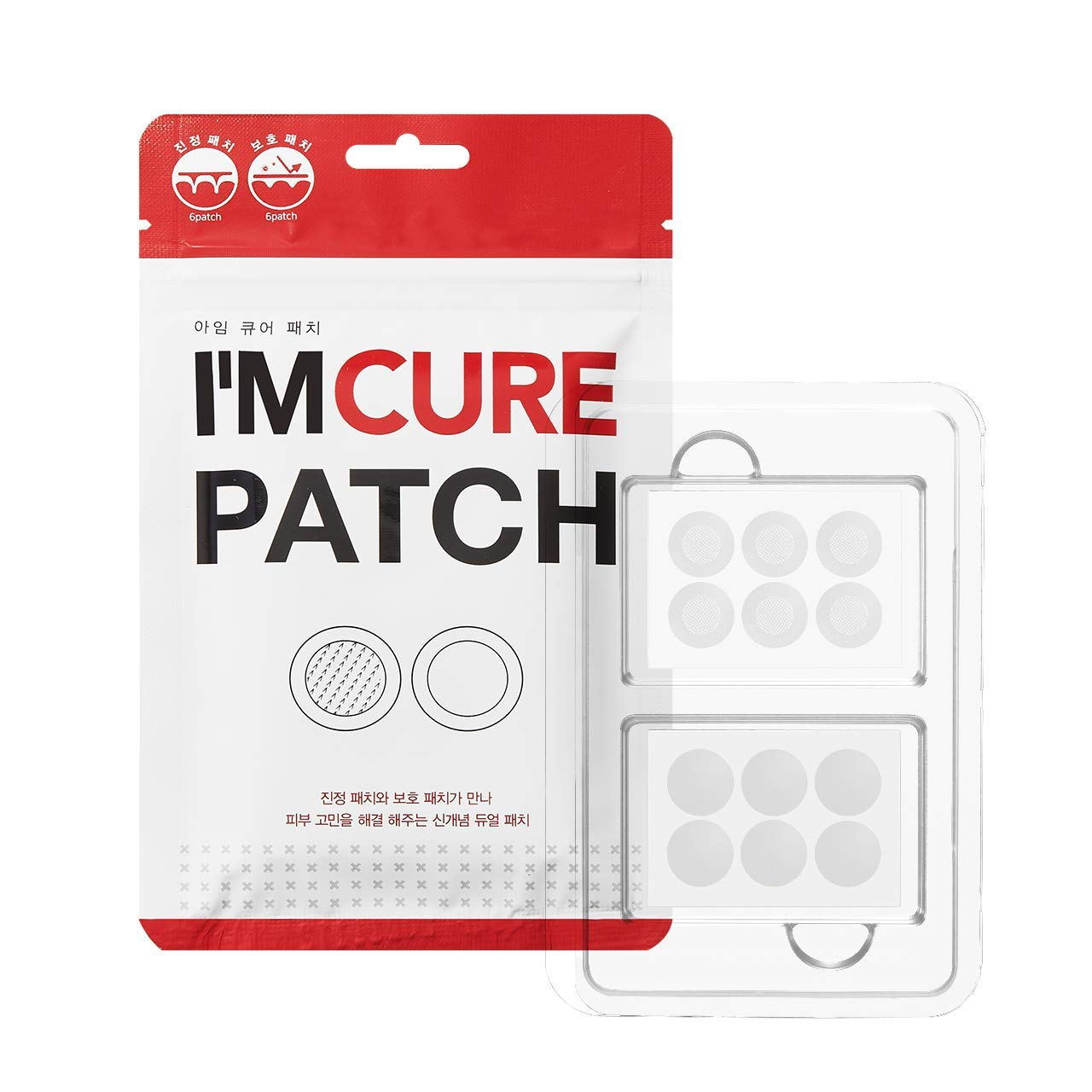 KARATICA I'M CURE, Microneedle 6ea + Hydrocolloid 6ea PATCH Acne Pimple Healing, Salicylic Acid, 12 patches, 1 Sheet by K KARATICA