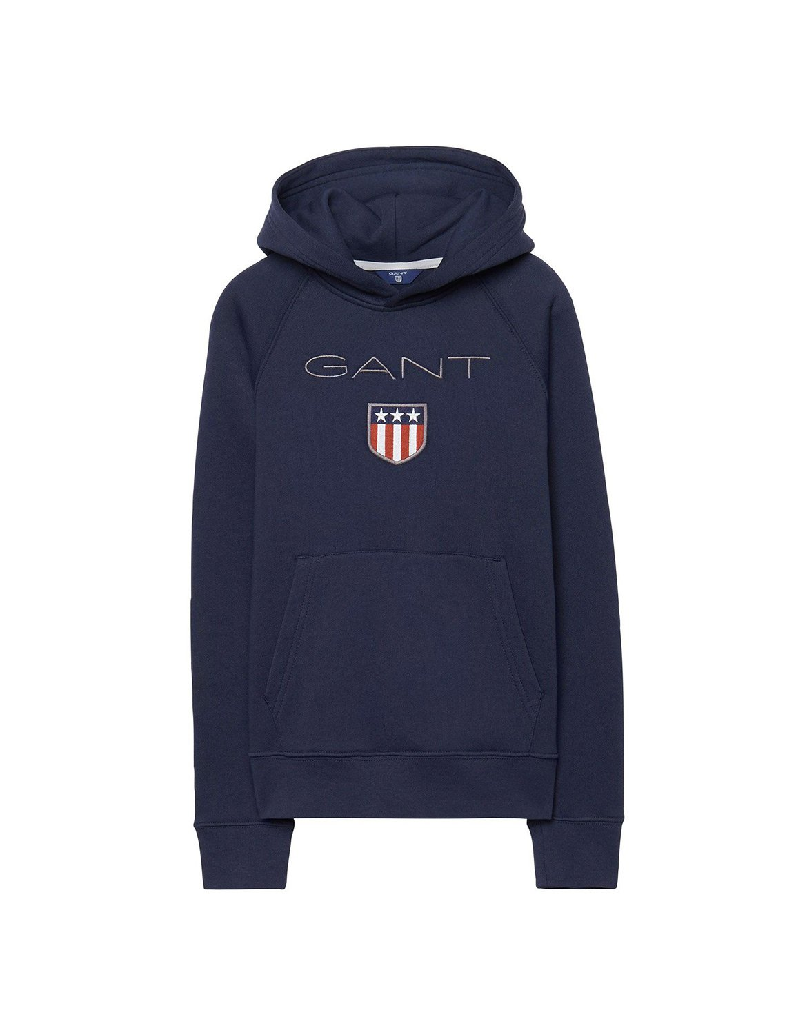 Gant Boy's Navy Hoodie With Logo in Size 7-8 Years (122-128 cm) Navy