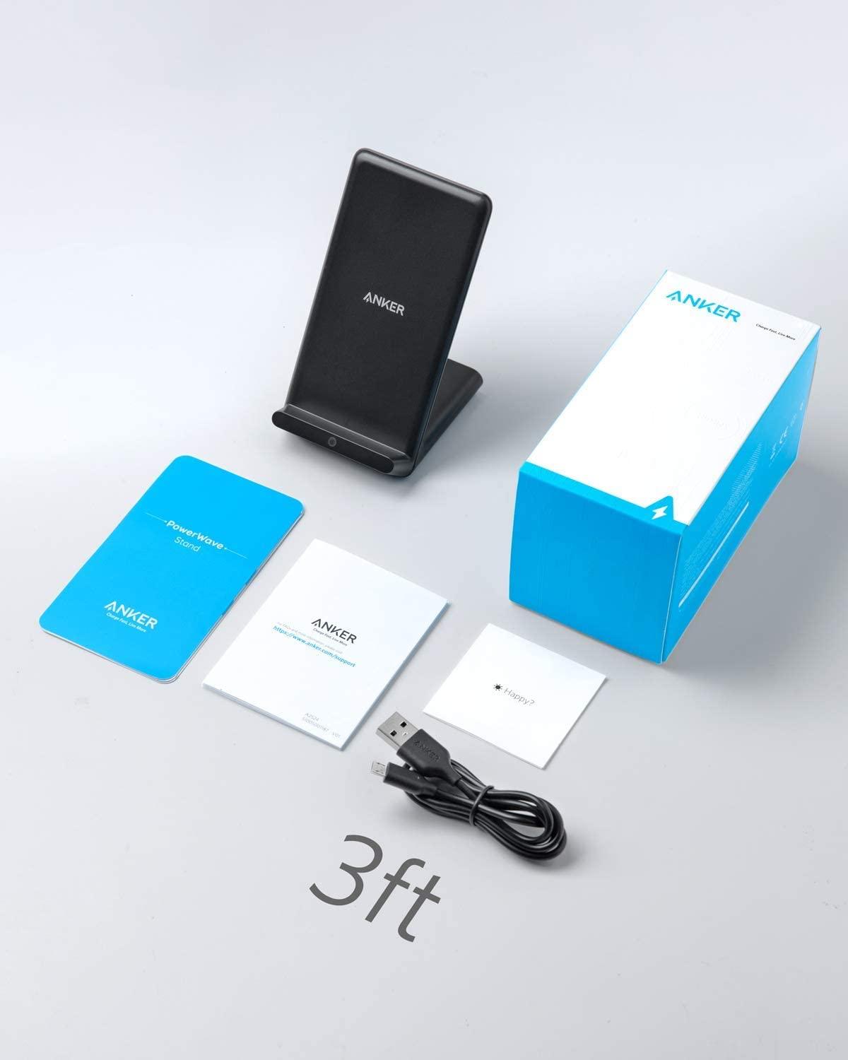 X PowerWave Stand 8 Anker Wireless Charger Note 10 Note 9 and More 10W Fast-Charging Galaxy S10 S9 S8 Qi-Certified for iPhone 11 Renewed XS XR No AC Adapter