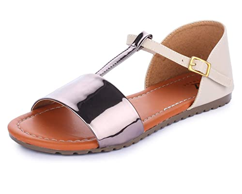 7bd6ef33c74 TRASE Spade Ladies Women Flat Sandals  Buy Online at Low Prices in India -  Amazon.in
