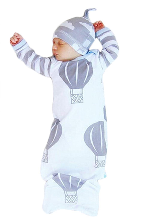 97bfa4f86 EGELEXY Newborn Baby Cartoon Print Swaddle Sleeping Bag Warm ...
