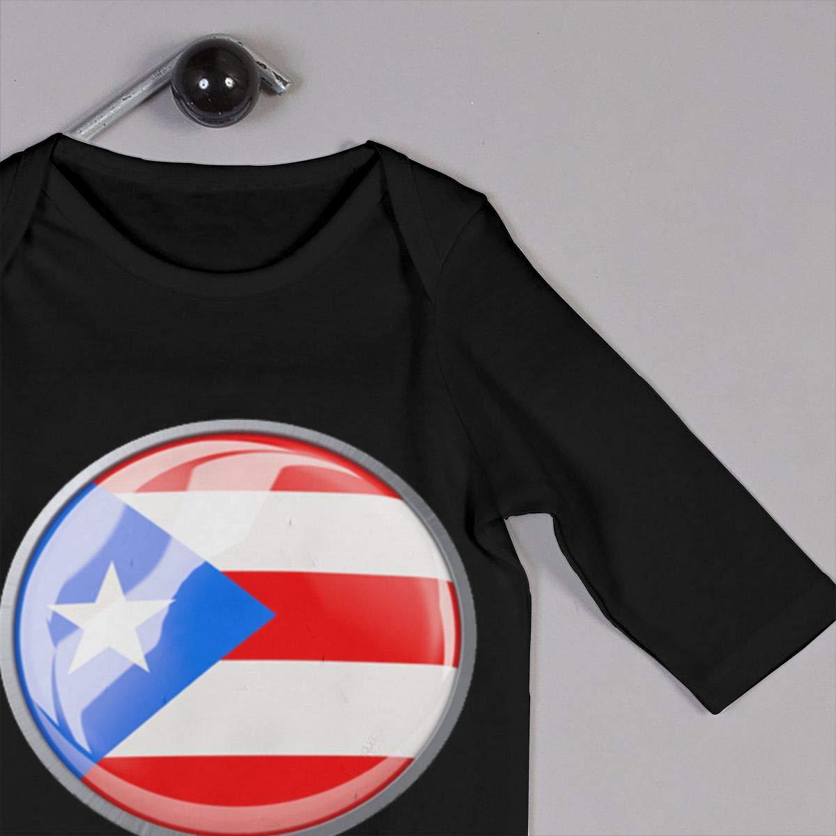 Flag of Puerto Rico Baby Boy Girl Long Sleeve Romper Jumpsuit Kid Pajamas