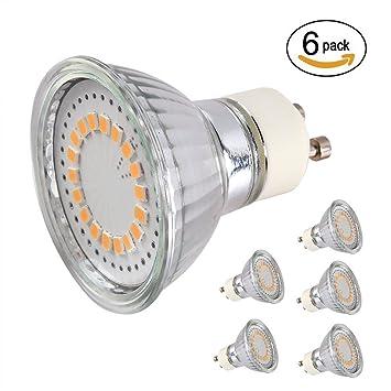 CMYK Bombillas LED GU10, 120°ángulo de haz LED Spot Luz, 40W Lámparas