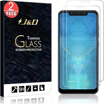 J&D Compatible para 2-Pack Xiaomi Pocophone F1 Protector de Pantalla, [Vidrio Templado] [NO Cobertura Completa] Cristal Templado Protector de Pantalla para Xiaomi Pocophone F1: Amazon.es: Electrónica