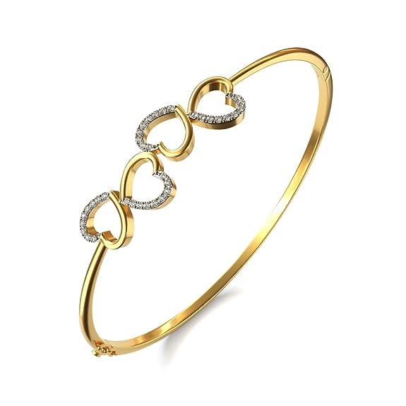 Joyalukkas 18KT Yellow Gold and Diamond Bracelet for Girls Girls