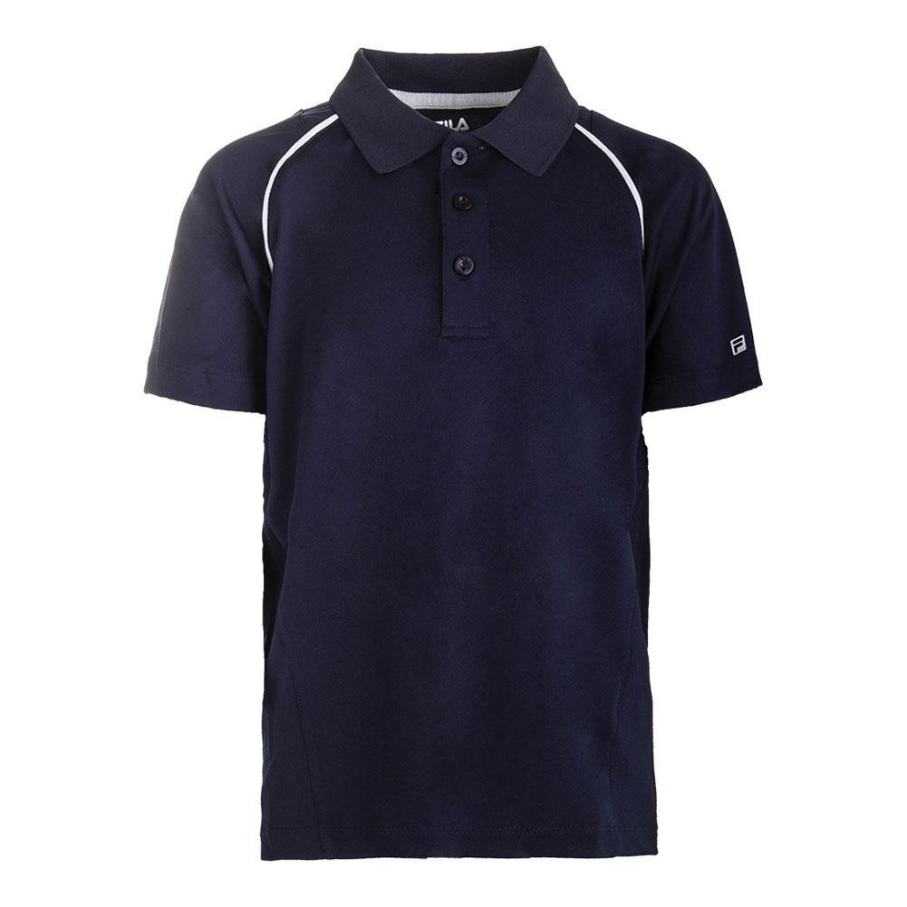 Fila Boy's Fundamental Polo Shirt M, Peacoat/White
