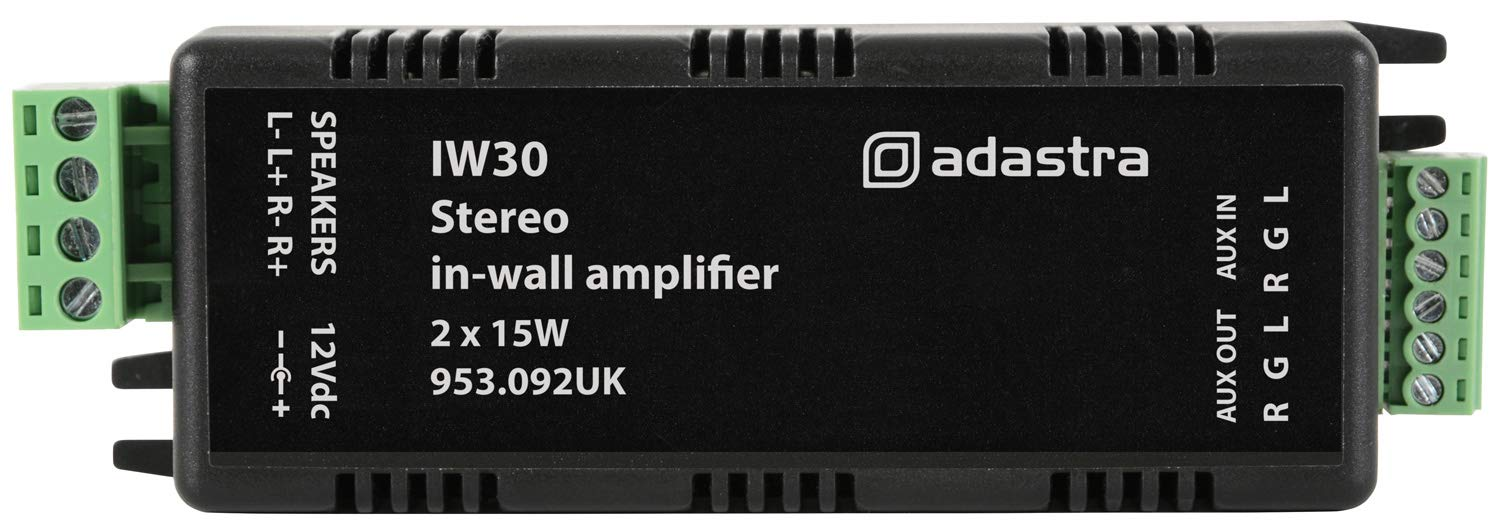 2 x 15W Adastra In-Wall Stereo Amplifier