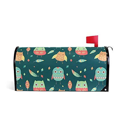 Amazon HELVOON Cute Cartoon Owl Magnetic Mailbox Cover Letter Wrap Standard Size 208 X 18 Inch Garden Outdoor