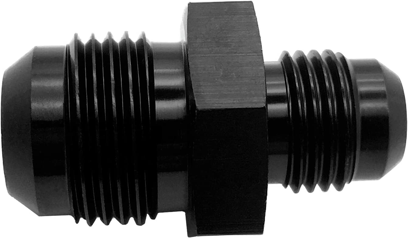 4AN to 3AN Male Flare Reducer Hose Fitting Adapter Fuel Line AN4 to AN3 Reducing Aluminum Pipe Union Connector Black