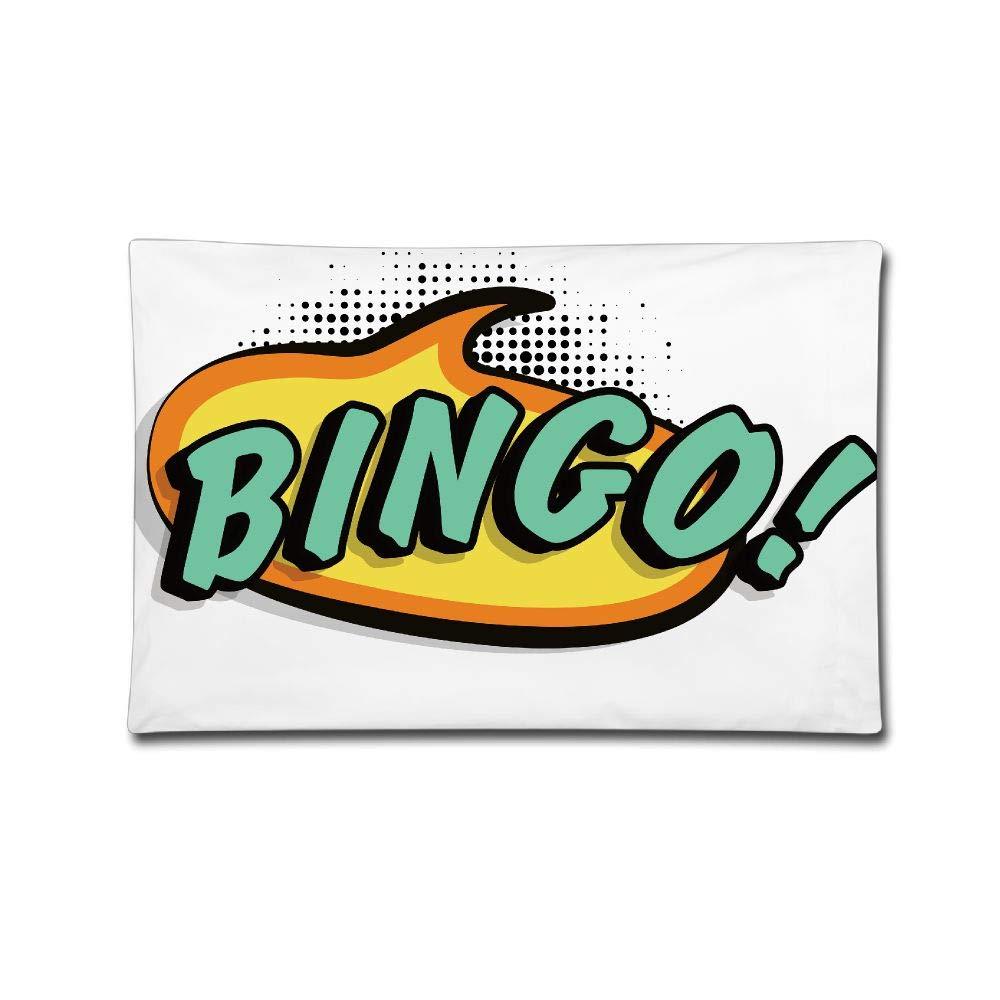 Throw Pillow Case Bingo Cushion Cover Home Office Decorative Rectangle Pillowcase 2030 inches