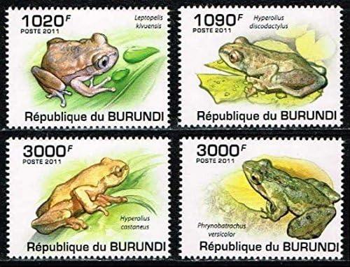 蛙 ブルンジ2011年4種完 カエル