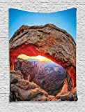 THndjsh Room Decorations Tapestry, Famous Sunrise At Mesa Arch in Canyonlands National Park, Utah, Usa Landmark, Bedroom Living Room Dorm Decor, 40 W x 60 L Inches