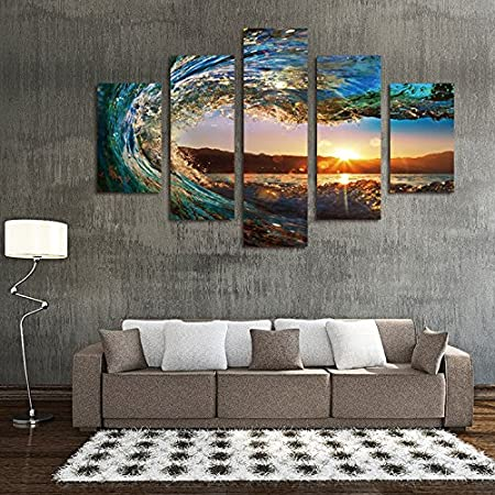 living room modern wall paintings simple background home interior