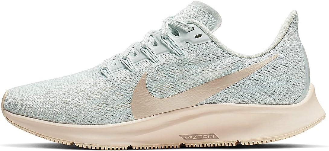 Nike Women's Air Zoom Pegasus 36 Running Shoe (9.5, Ghost Aqua/Light  Cream/Sail)