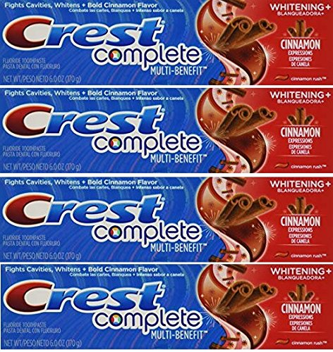 Crest Whitening Expressions Fluoride Anticavity Toothpaste, Cinnamon Rush, 6 oz (4 Pack) ()