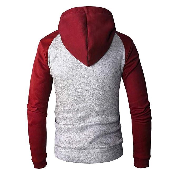 Malloom Sudadera con capucha de los hombres Retro Camisetas de manga larga Chaqueta Capa Chaqueta con capucha de manga larga con cremallera para hombre: ...