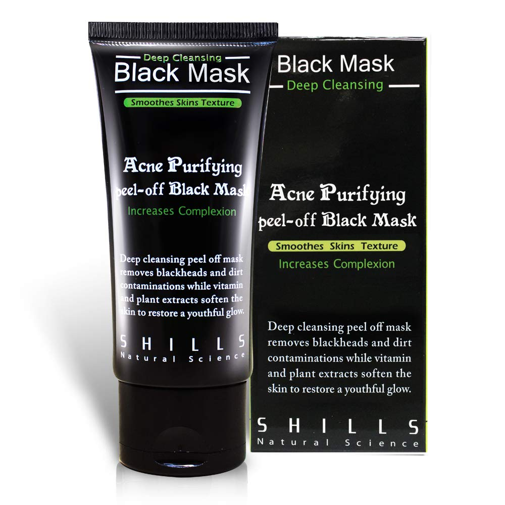 SHILLS black mask purifying peel off mask, charcoal peel off mask, charcoal mask, peel pff mask, the black mask, 50ML LIN QUAN ENTERPRISE CO. LTD