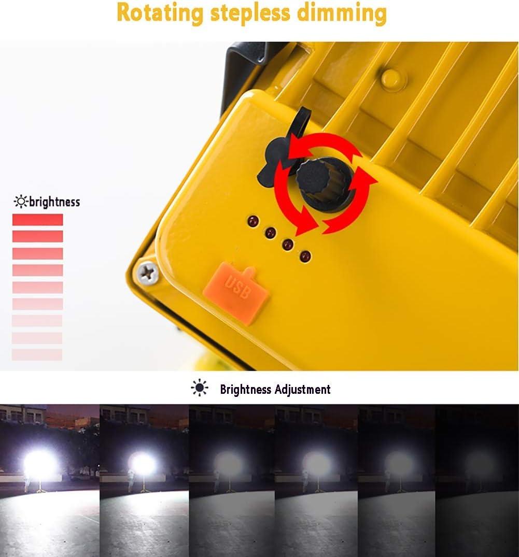 Eingebauter Akku 10400 mAh Rote Und Blaue Warnleuchte Stufenloses Dimmen Tragbar IP65 Wasserdicht Baustrahler 8000 Lumen 350W LED Strahler Mit Fernbed 350W LED Strahler Mit Fernbedienung Akku