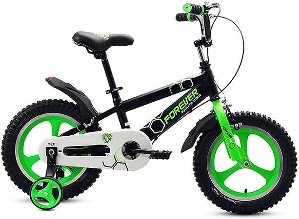 DT Bicicleta Verde para niños de 12/14/16 Pulgadas Verde Luminosa ...