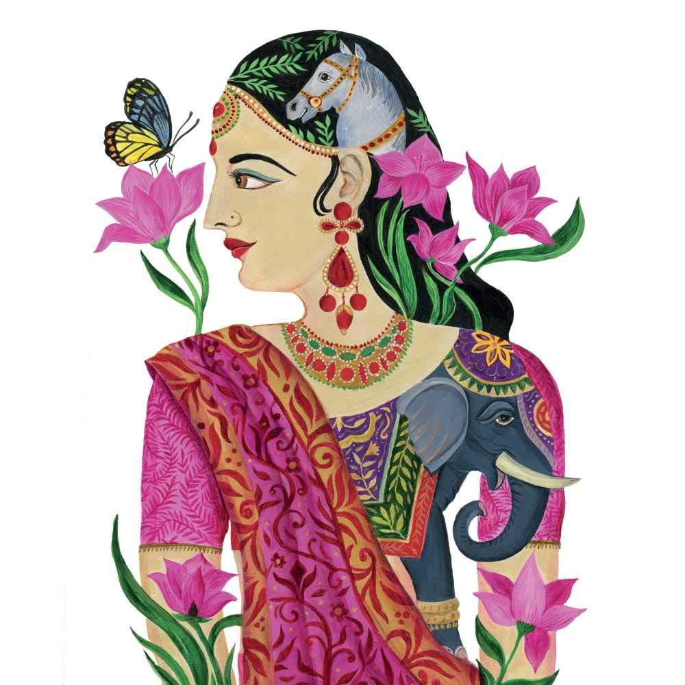 Paperproducts Design 1333043 Kumudha Lunch-Servietten, 16,5 x 16,5 cm, mehrfarbig