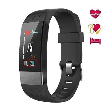 Pulsera de Actividad Inteligente con Pantalla OLED, Impermeable IP67, Reloj Inteligente con Pulsómetro, Calorías, Sueño, Podómetro, Captura de ...