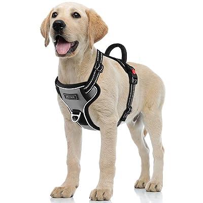Petacc Dog Harness No-Pull Pet Harness Adjustable Pet Reflective Vest Dog Walking Harness
