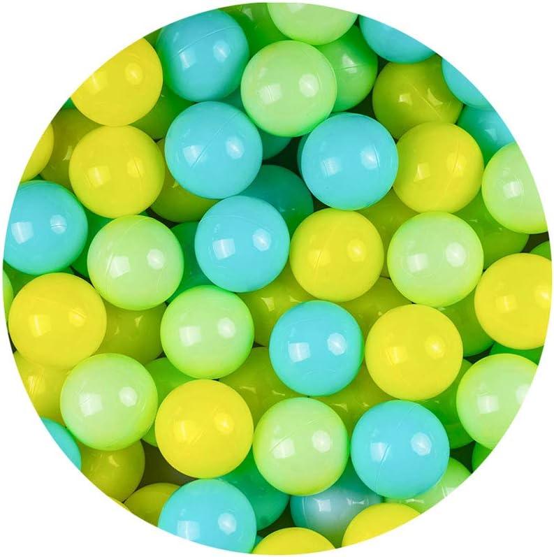 LIUFS Bola de Juguete para niños Piscina de océano Bola de Olas Bola de Color Engrosada Material de Seguridad Interior Parque de Atracciones Bola de Juguete
