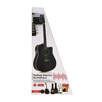 axman - Guitarra electroacústica western con pastilla Incluye un ...