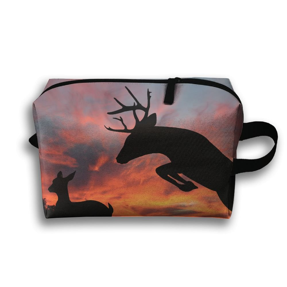3fec910acd89 hot sale GNMB Deer In The Sunset Portable Receiving Bag Make-up ...