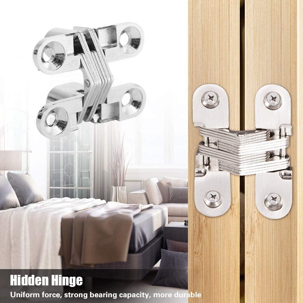 94 mm Bisagras invisibles cruzadas invisibles invisibles para puertas de madera