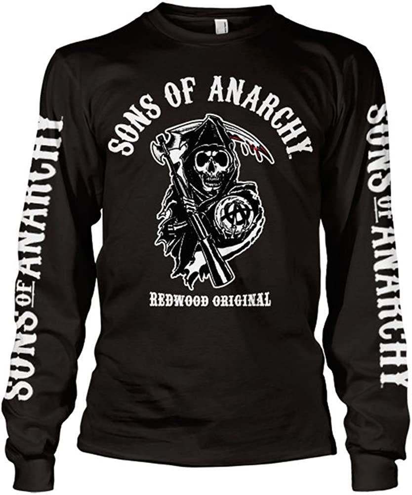 Officially Licensed Sons Of Anarchy SOA Back Patch Reaper T-Shirt S-XXL Sizes