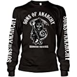 Officially Licensed Sons Of Anarchy - Redwood Original Long Sleeve T-Shirt (Black)