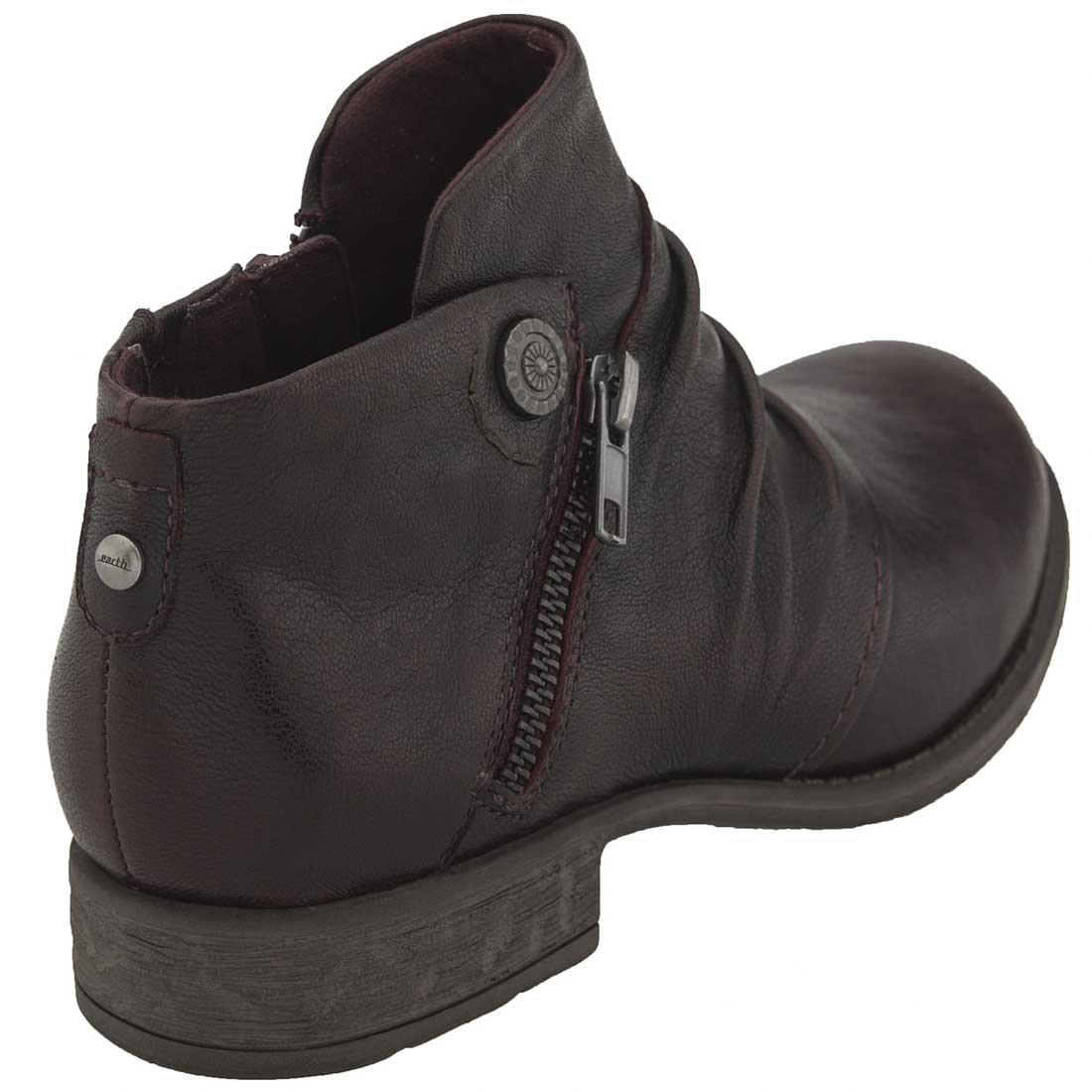 Earth Womens Ronan Closed Toe Ankle Fashion Boots B06W2KXQSS 8.5 B(M) US|Garnet Brush-off Leather