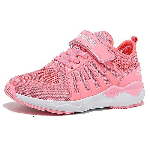Unisex-Niños Zapatillas De Correr para Chico Zapatos De Deporte Niño y Niña Calzado Infantil Transpirable,Niños Zapatos De Interior, Velcro Trainers Ninos ...