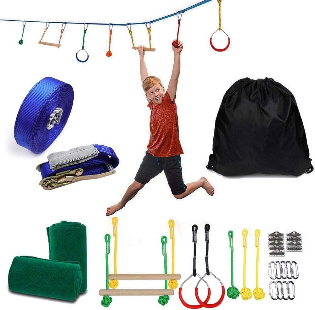 Carrera de obstáculos Ninja Warrior para niños, kit de carrera de ...