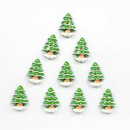 bulk 10pcs christmas tree flatback resin scrapbooking cabochons diy hair bow center decoration embellishments crafts