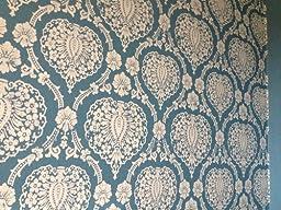 scandinavian vintage tapete in blau wei baumarkt. Black Bedroom Furniture Sets. Home Design Ideas