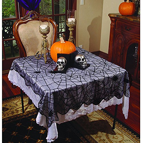 Halloween Lace Home Décor - Spider Web Rounded Table (Underwraps Decor)