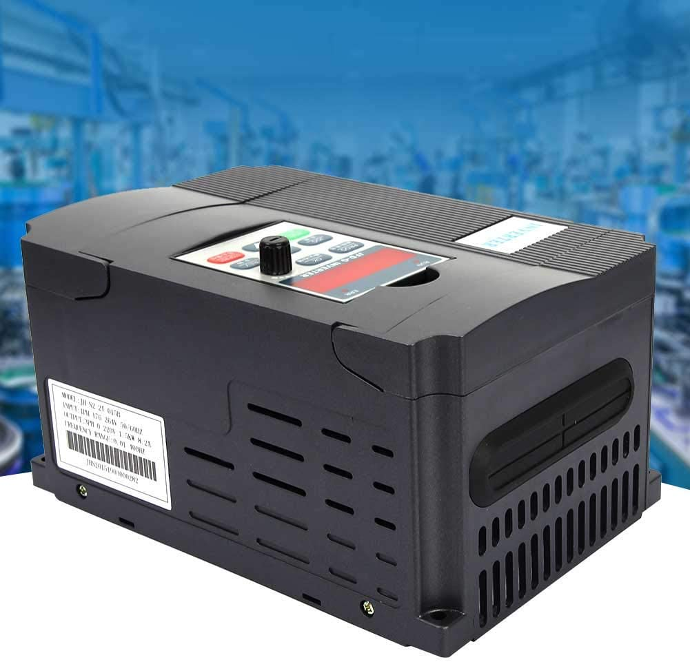 LHQ-HQ Variable Frequency Inverter 0.75kW Universal Variable Frequency Converter Inverter Drive VFD AC 220V Single Phase Speed Controller PWM Control