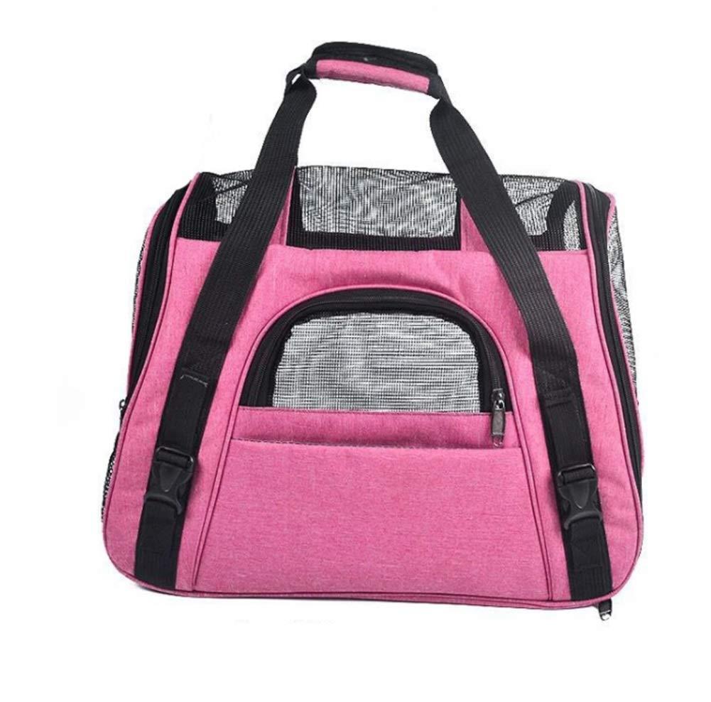 pink red Pet supplies convenient travel bag 46  23  35CM pet backpack shoulder breathable non-slip bag travel bag XIAHE
