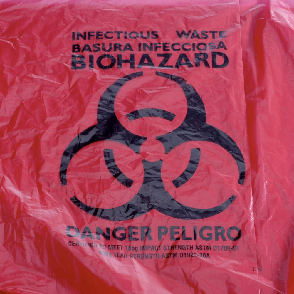 MediChoice Can Liner, Imprinted Infectious Waste, Plastic, 12-16 Gallon, 1.3 Mil, 24 Inch x 32 Inch, Red (Case of 500)