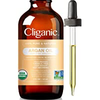 Cliganic USDA Organic Argan Oil, 100% Pure | Moroccan Argan Oil for Hair, Face & Skin | Natural Cold Pressed Carrier Oil…
