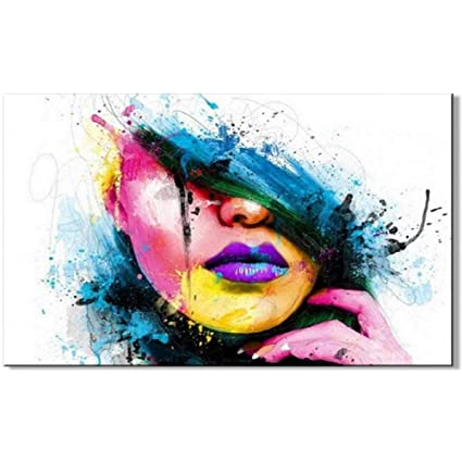 Amazon.com  Osm Art 100% Hand-painted Wall Art for Large Painting ... f76c3d942e