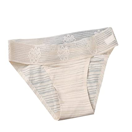 8ef85e865ff87 Nacome Women s Invisible Seamless Bikini Underwear Half Back Coverage Soft  Panties (Beige