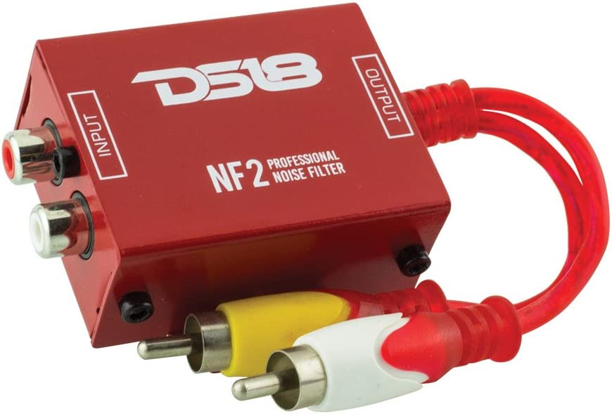 Eliminates and Stops The Hum Noise! Ground Loop Isolator for Car Audio Systems DS18 NF2 Professional Noise Filter