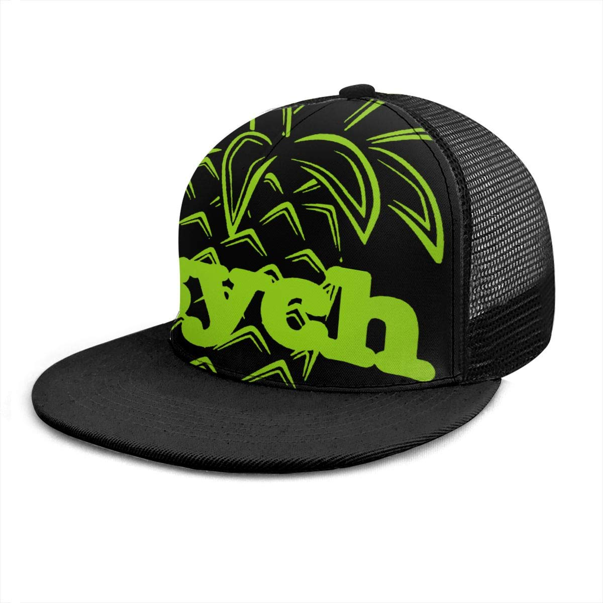 Mens and Womens 100/% Polyester Green Outline of Pineapple Mesh Cap Stretch Trucker Baseball Cap for Unisex