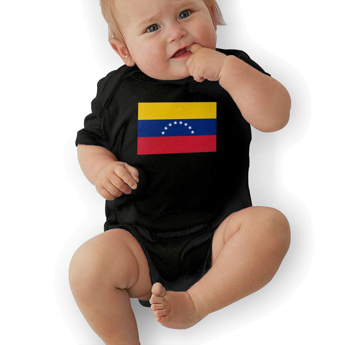 Flag of Venezuela Graphic Newborn Baby Short Sleeve Bodysuit Romper Infant Summer Clothing