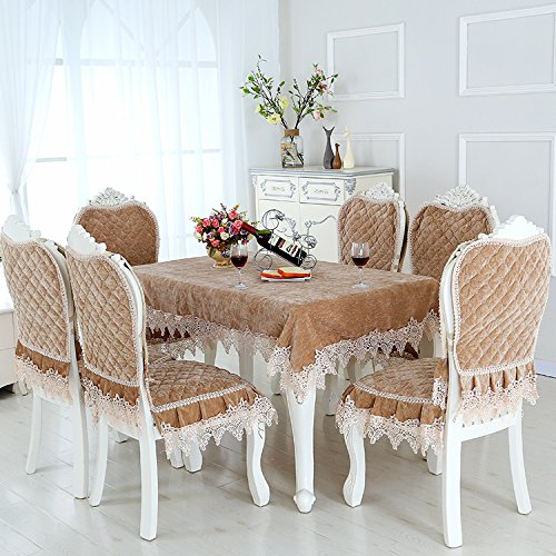 HuaShao HuaShaoThe Dining Table Chair Set Cover Home Universal Fabric Table Fabric Upholstery Seat Cushion Kit,180Cm Diameter Round Table Cloth