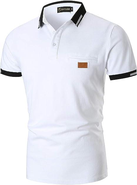 YIPINEU Mode Polo Homme Manches Courtes Casual