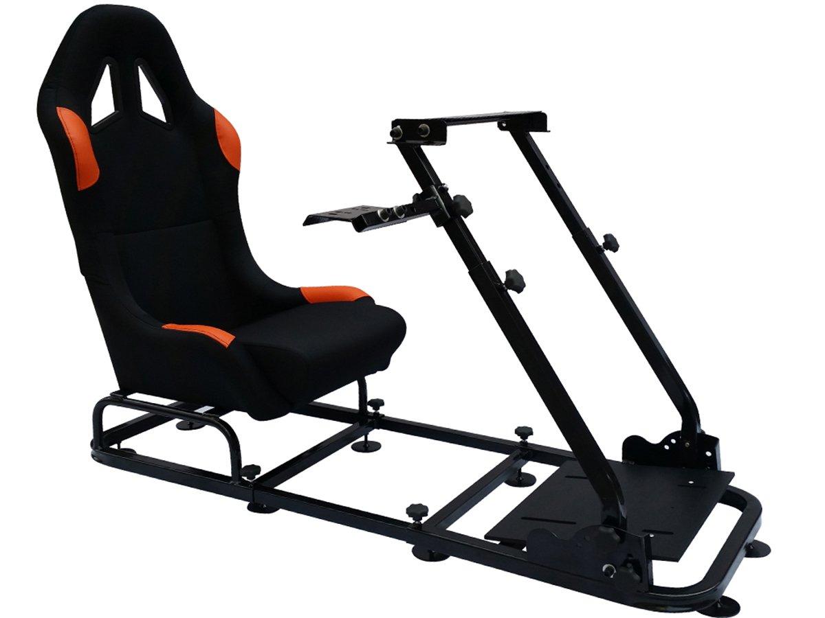 FK-Automotive Game Seat Spielsitz f/ür PC und Spielekonsolen Stoff schwarz//orange